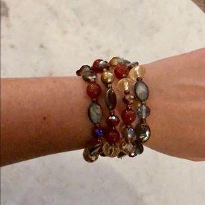 Jewelry - 4-Piece Multi Color Beaded Stretch Bracelet